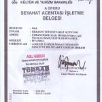 Foto do documento do Tursab e facilidades