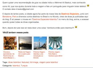 Blog Vambora traz muitas dicas e sugestões aos seus leitores